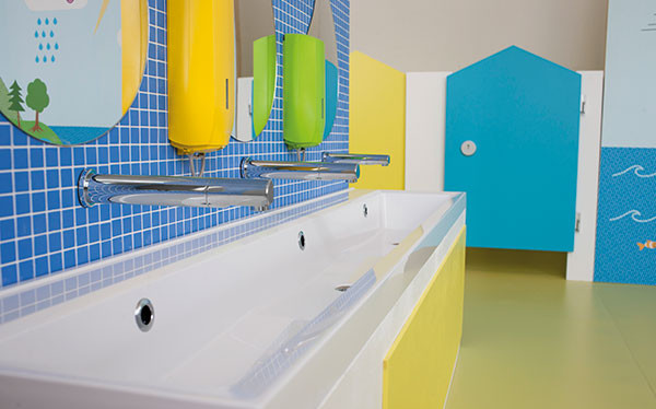 Colourful schools range from Armitage Shanks