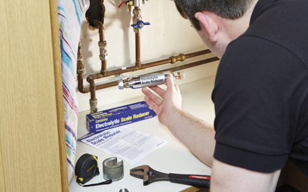 Fit-and-forget limescale prevention
